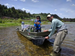 Young fly fisherman south fork