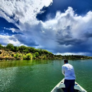 fly fishing for bass on snake river