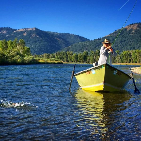 drift boat on the south fork of the snake